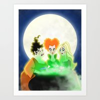 hocus pocus Art Prints featuring Hocus Pocus by Angela Vasquez