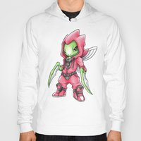 Hoodies featuring The Deadliest Ninja Warrior by Randy C
