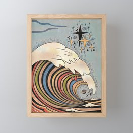 Ride your own wave Framed Mini Art Print