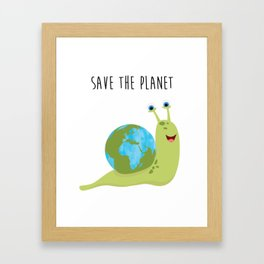 Save the Planet - It's on your shoulder Framed Art Print