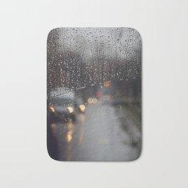 Rainy Bokeh. Bath Mat