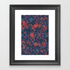Blue Tile Framed Art Print