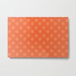 Potato Print Sun Metal Print
