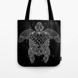 Sea turtle made of precious lace Tote Bag