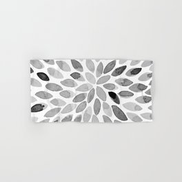 Watercolor brush strokes - black and white Hand & Bath Towel