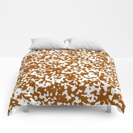 Small Spots - White and Brown Comforters