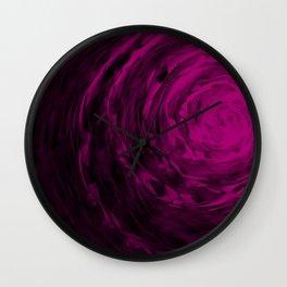 Organic Spiral - Purple Wall Clock