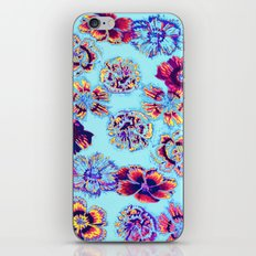 flowers on turquoise iPhone & iPod Skin