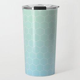 Cyan honeycomb Travel Mug