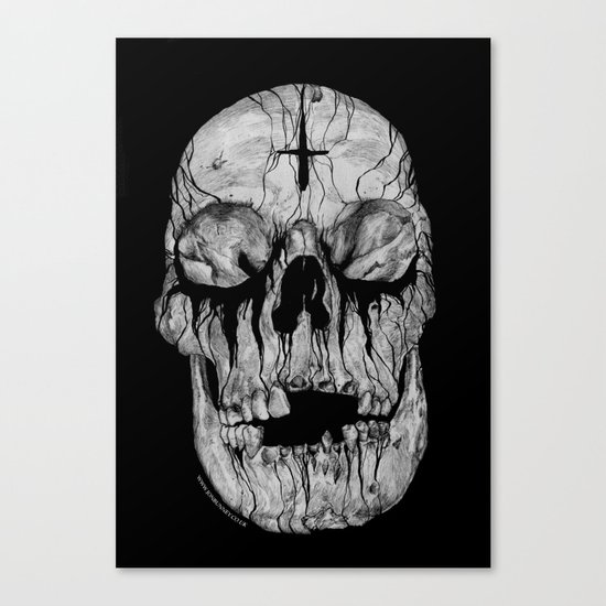 Black blooded Canvas Print