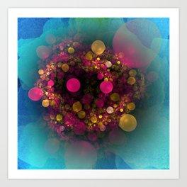 bubbles on watercolor Kunstdrucke