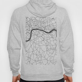 London White on Gray Street Map Hoody
