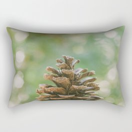 Pinecone in the Fall Rectangular Pillow