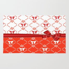 Red Ribbons and Bows Rug