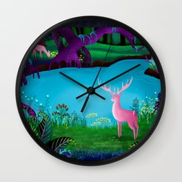 The Silent Deep Stream of Greendown Glenn Wall Clock