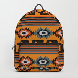 Geometric with colorful stripes Backpack