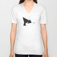 return V-neck T-shirts featuring Return Home by The Sea or You