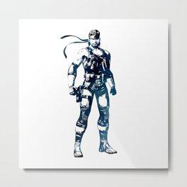 Solid Snake - Metal Gear Solid Metal Print