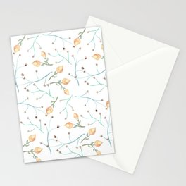 Delicate pimpo floral print Stationery Cards