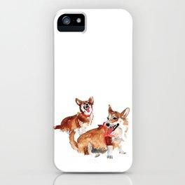 watercolor dog vol 13 corgi iPhone Case