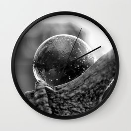 Bubble on Antler Wall Clock