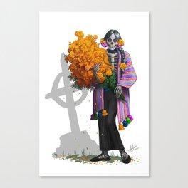 Catrina en Xochimilco Canvas Print