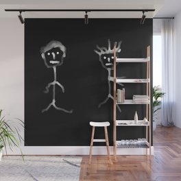couple noir blanc Wall Mural