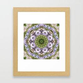 Lacy Lavender Wild Bergamot Kaleidoscope Framed Art Print