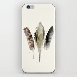 nature feathers iPhone Skin