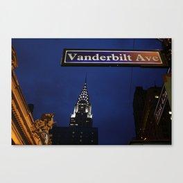 Vanderbilt Canvas Print