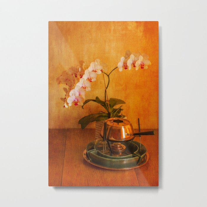 Orchid and Fondue Metal Print