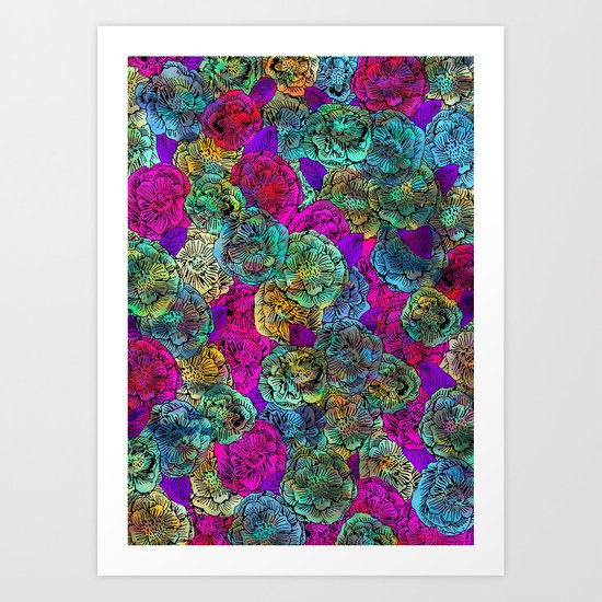 Forest Floral Art Print