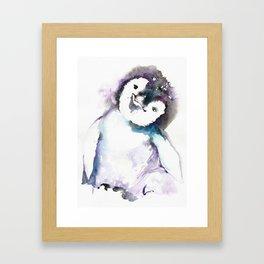 HAPPY PENGUIN Framed Art Print