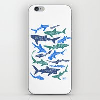 sharks iPhone & iPod Skins featuring SHARKS! by Jen Richards