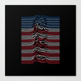 Joy Division - Unknown American Pleasures Canvas Print