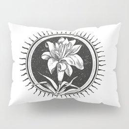 White flower Flor blanca Pillow Sham