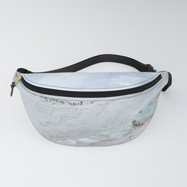 Hot Springs   Ancient Roman Baths Travertine Teal Water Mountain Landscape Photograph Majestic Sky Fanny Pack