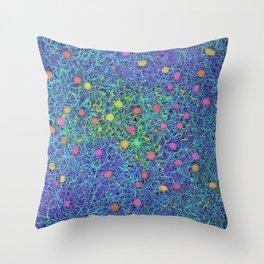 Starry Starry Night Neurons Throw Pillow
