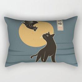 The Cat with Batty Rectangular Pillow
