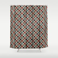 patriotic Shower Curtains featuring Patriotic Wood texture #7 by Juliana RW