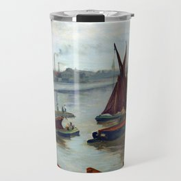 James McNeil Whisler Grey and Silver, Old Battersea Reach Travel Mug