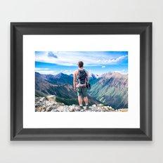 Peaks scape |I| Framed Art Print