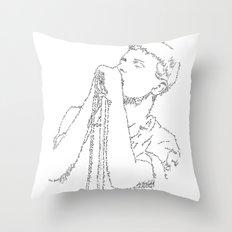 Ian Curtis WordsPortrait Throw Pillow