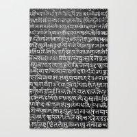 scripture Canvas Prints featuring Scripture by ArpanDholi