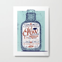 Old Crow Medicine Show Illustration Metal Print