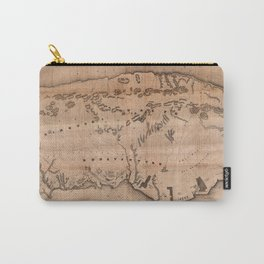 Map Of Gaspe 1857 Carry-All Pouch