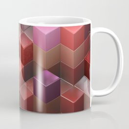 Artistic Cubes 09 pink red Coffee Mug