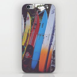 Surf-board-s up iPhone Skin