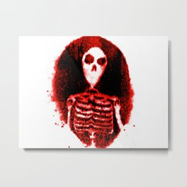 Skeleton's portal red & black Metal Print