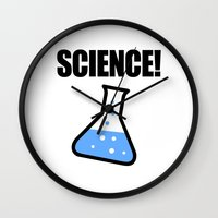 science Wall Clocks featuring Science! by Jez Kemp